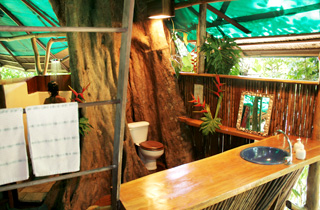 the bathroom doesnt look too flash for 300night but thats part of the adventure and the charm the tree house